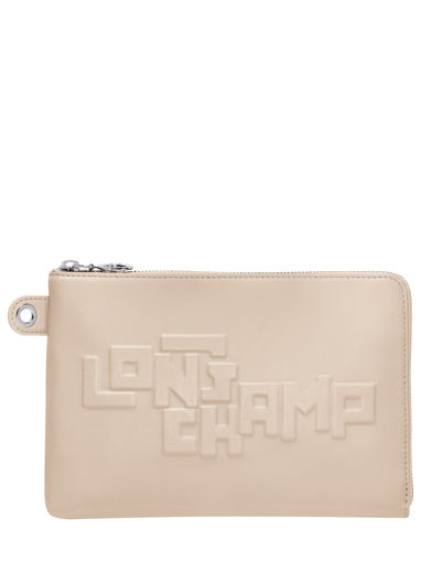 Longchamp Le pliage animation cuir estam Clutches Black