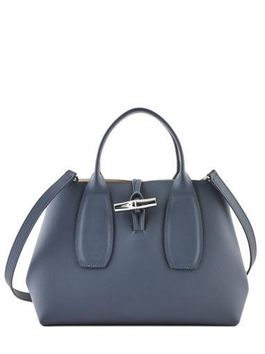 Longchamp Roseau Sacs porté main Bleu