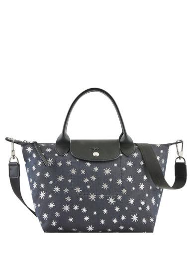 Longchamp Le pliage jacquard etoiles Handbag Blue