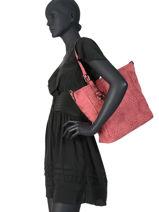 Hobo Bag Lina Miniprix Red lina MD7251-vue-porte