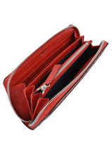 Leather Wallet Premier Flirt Lancel Red premier flirt A10111-vue-porte