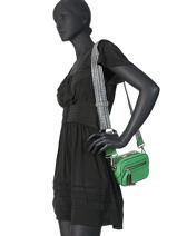 Sac Bandoulière Zippé Cara Lancel Vert cara A10505-vue-porte
