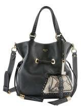 Medium Leather Bucket Bag Premier Flirt Python Lancel Black premier flirt A10529