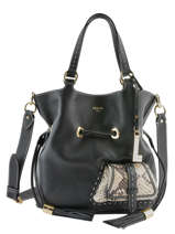 Medium Leather Bucket Bag Premier Flirt Python Lancel Black premier flirt A10529
