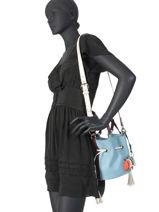Small Leather Bucket Bag Premier Flirt Lancel premier flirt A10530-vue-porte