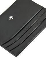 Leather Meisterstück 6cc Card Holder Montblanc Black meisterstÜck 106653-vue-porte