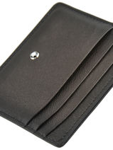 Leather Meisterstück Sfumato 6cc Card Holder Montblanc Gray meisterstÜck 118365-vue-porte