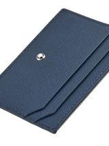 Porte-cartes Sartorial 5cc Cuir Montblanc Bleu sartorial 116339-vue-porte