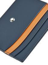 Porte-cartes Meisterstück 6cc Cuir Montblanc Bleu meisterstÜck 118309-vue-porte