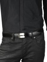 Ceinture Homme Réglable Cuir Montblanc Noir belts 114385-vue-porte