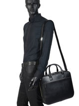 Leather Briefcase Sartorial Montblanc Black sartorial 113184-vue-porte