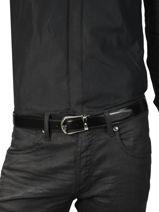 Ceinture Homme Réglable Cuir Montblanc Noir belts 118425-vue-porte