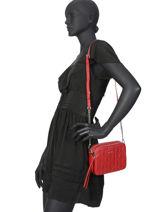 Leather Crossbody Bag Parisienne Matelassé Lancaster Red parisienne matelasse 522-85-vue-porte