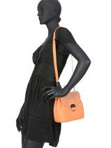 Shoulder Bag Foulonne Pia Lancaster Orange foulonne pia 547-36-vue-porte