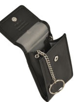 Key Holder Leather Katana Black daisy 553025-vue-porte