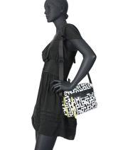Longchamp Le pliage lgp Sacs porté travers Blanc-vue-porte