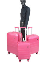 Luggage Set Lisbon Travel Pink lisbon 18807LOT-vue-porte