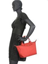 Longchamp Le pliage neo Sacs porté main Rouge-vue-porte