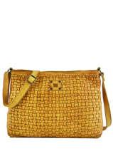 Large Leather Crossbody Bag Heritage Biba Yellow heritage KA2