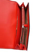 Leather Wallet Anstey Lauren ralph lauren Red anstey 32757554-vue-porte