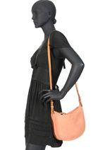 Leather Crossbody Bag Corvin Biba Red corvin COR2L-vue-porte