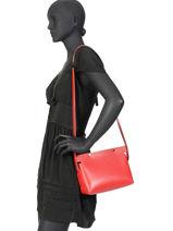 Leather Crossbody Bag N°12 Le Petit Pincé Archipel Red numero N12-vue-porte