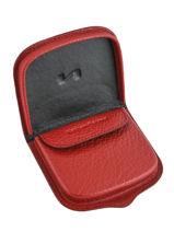 Purse Leather Nathan baume Red original n 226N-vue-porte