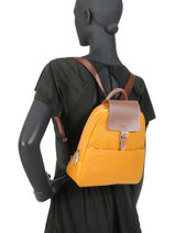 Backpack Hexagona Yellow pop 171246-vue-porte