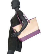 Shoulder Bag A4 Malibu Hexagona Pink malibu 505932-vue-porte