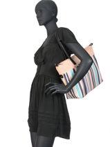 Shoulder Bag A4 Calypso Hexagona Black calypso 966546-vue-porte