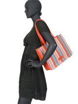 Shoulder Bag A4 Frimousse Fuchsia Orange frimousse F9875-5-vue-porte