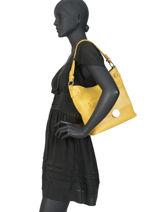 Hobo Bag Ilona Fuchsia Yellow ilona F9877-5-vue-porte