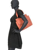 Shoulder Bag Loft Fuchsia Orange loft F9864-6-vue-porte