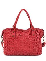 Shoulder Bag Dewashed Leather Milano Red dewashed DE19112