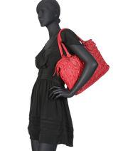 Shoulder Bag Dewashed Leather Milano Red dewashed DE19112-vue-porte