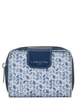 Wallet Lancaster Blue basic vernis 104-14