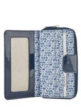 Continental Wallet Lancaster Blue basic vernis 104-15-vue-porte