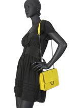 Shoulder Bag Velvet Milano Yellow velvet VE180602-vue-porte