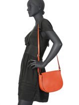 Crossbody Bag Leather Milano Orange CA19116-vue-porte