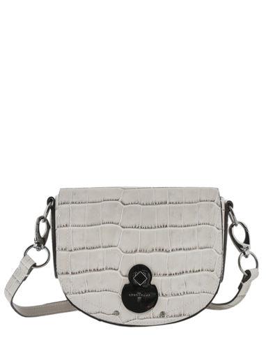 Longchamp Cavalcade croco Messenger bag Black