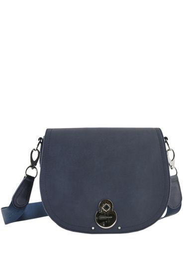 Longchamp Cavalcade Sacs porté travers Bleu