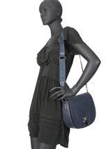 Longchamp Cavalcade Sacs porté travers Bleu-vue-porte
