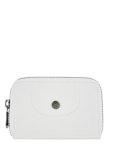 Longchamp Le pliage cuir Porte-monnaie Blanc