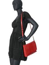 Leather Crossbody Bag Croco Milano Red CR19111N-vue-porte