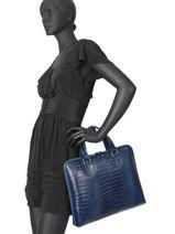 Leather Briefcase Croco Milano Blue CR19064N-vue-porte