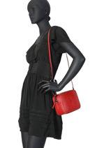 Leather Crossbody Bag Croco Milano Red CR19118N-vue-porte