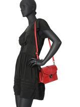 Leather Crossbody Bag Croco Milano Red CR19062N-vue-porte