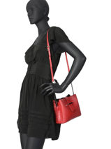 Leather Crossbody Bag Croco Milano Red CR19112N-vue-porte