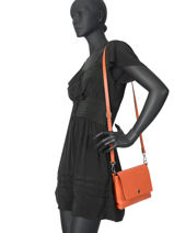 Shoulder Bag  Leather Milano Orange CA19034-vue-porte