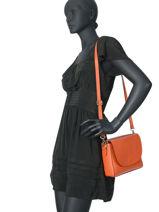 Shoulder Bag  Leather Milano Orange CA17068-vue-porte
